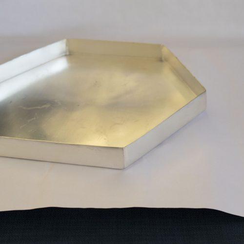 Tray silver metal