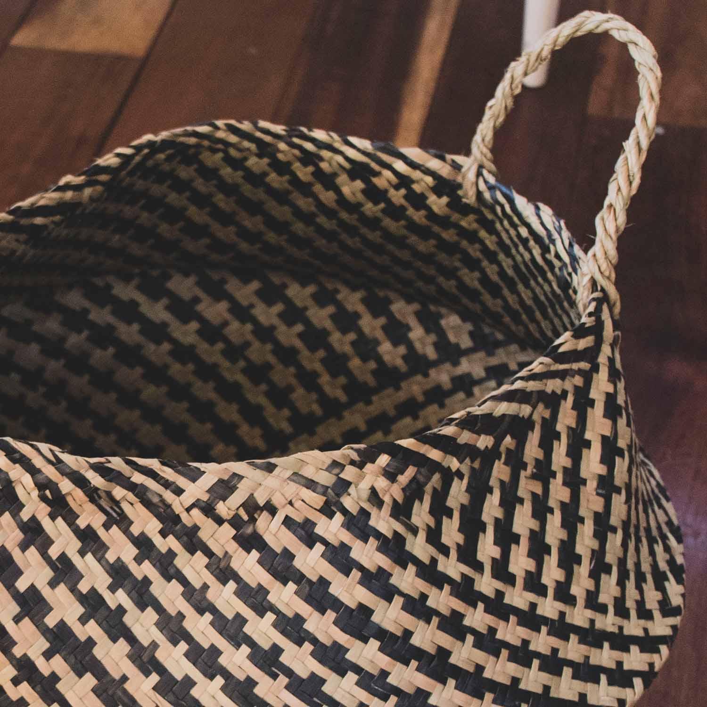 Basket, Multi-color, Seagrass