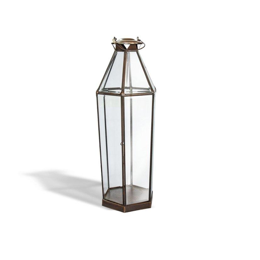 Brass Candle Lantern Louise Meduim