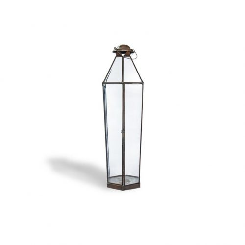 Brass Candle Lantern Louise Small