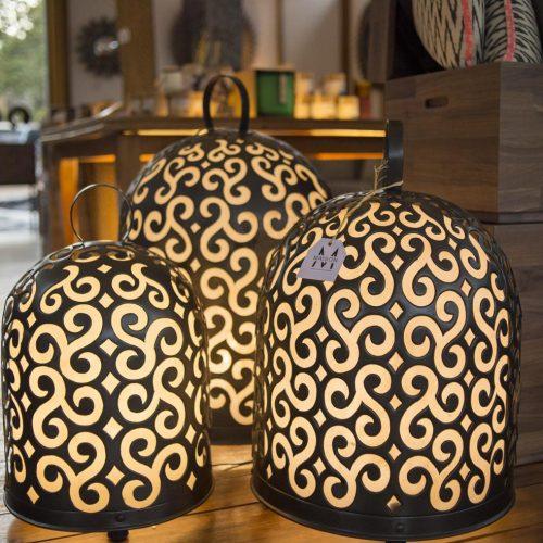 Brass chicken house stand lamp