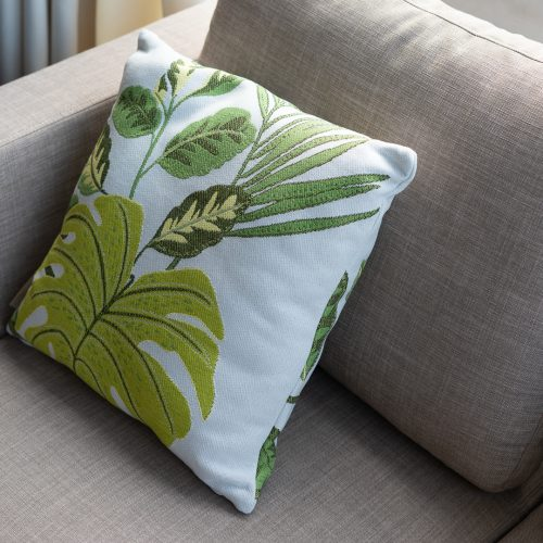 Green Leaves Outdoor Cushion