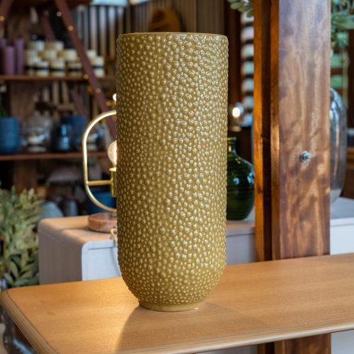 Vase, Yellow, Stoneware