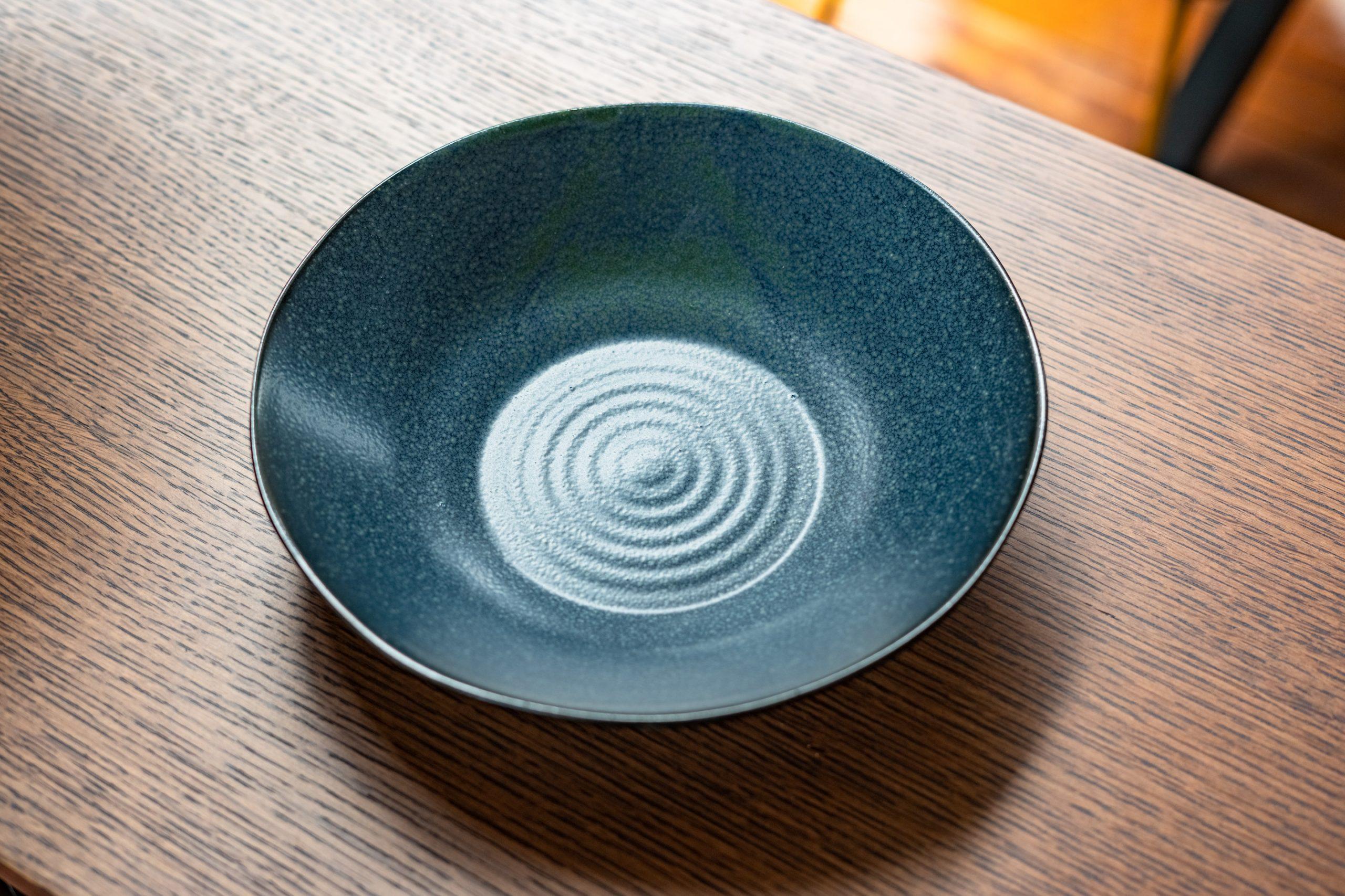 Aura Soup Plate, Blue, Stoneware