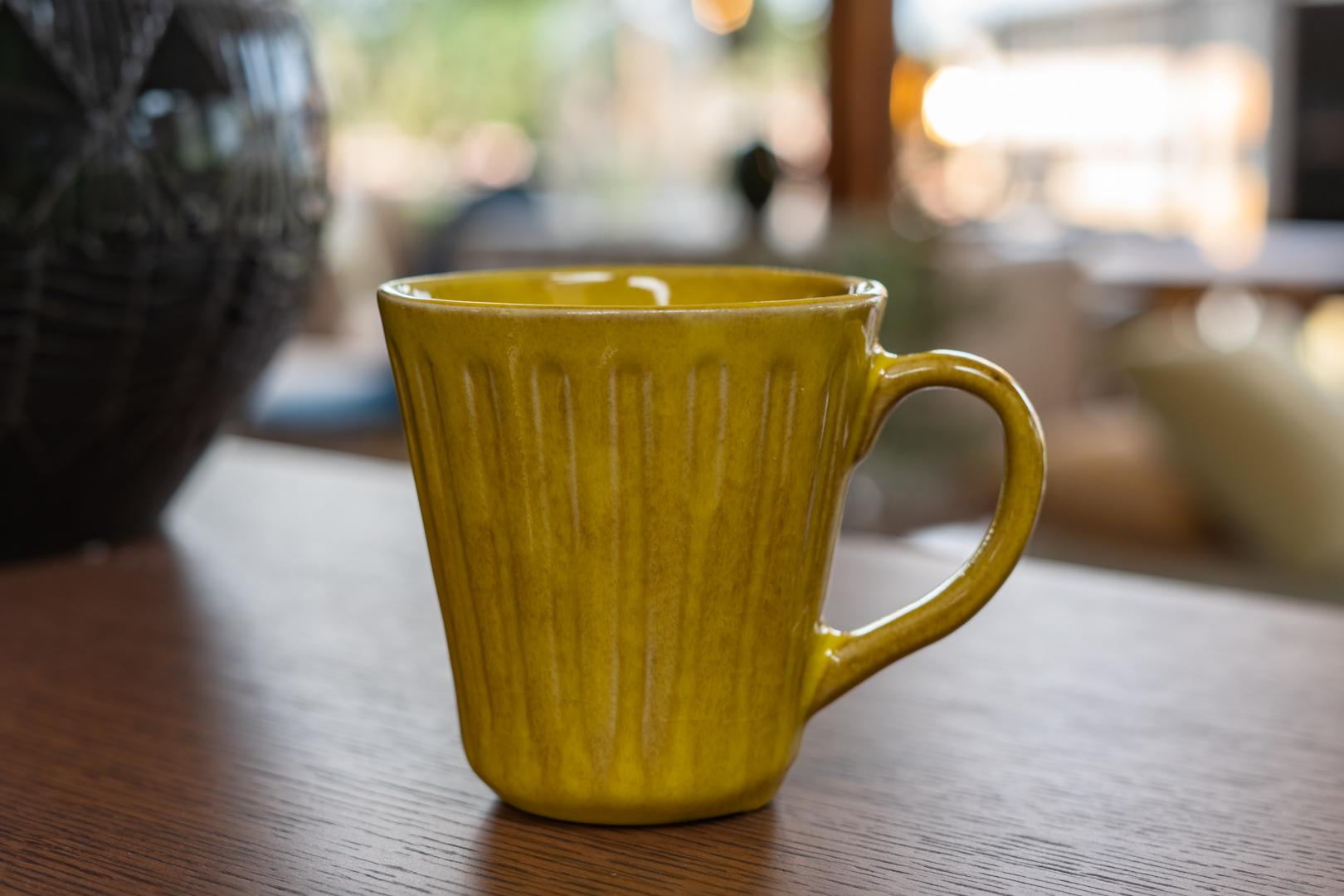 Cala Mug, Yellow, Stoneware
