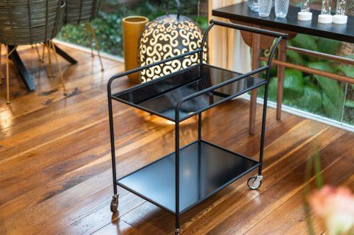 Fine Bar Table, Black, Glass