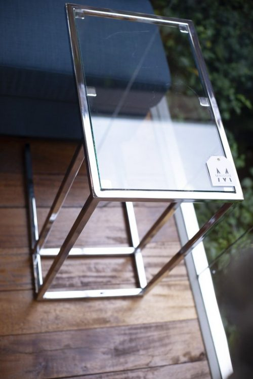 Metro side table/ chrome
