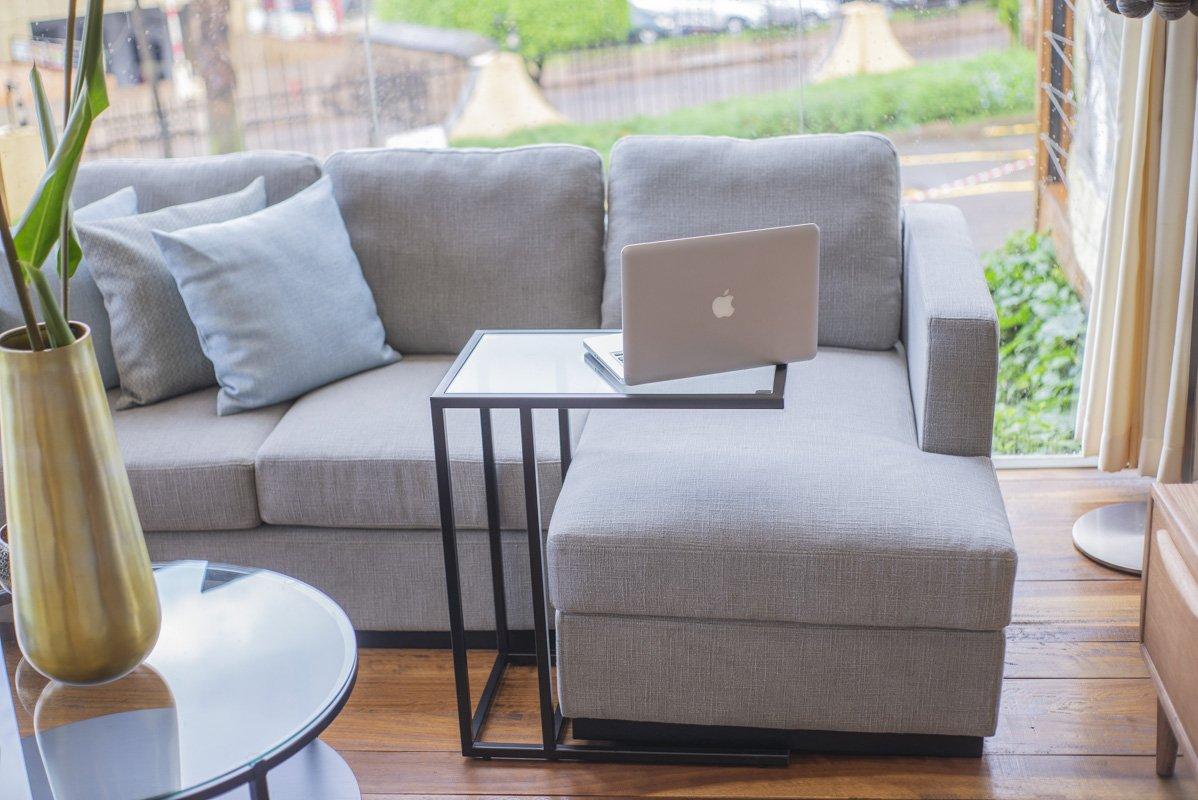 Metro sofa L shape/ fabric grey