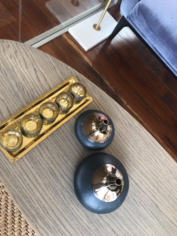 Bowl plain 5 pieces on tray