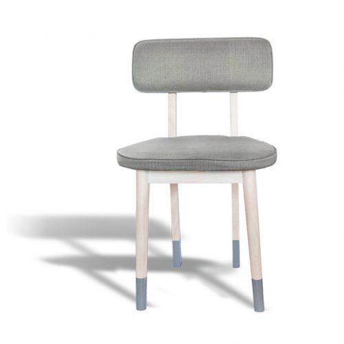 Plank Side Chair Grey Fabric