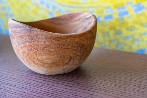 Bowl, Brown, Acacia