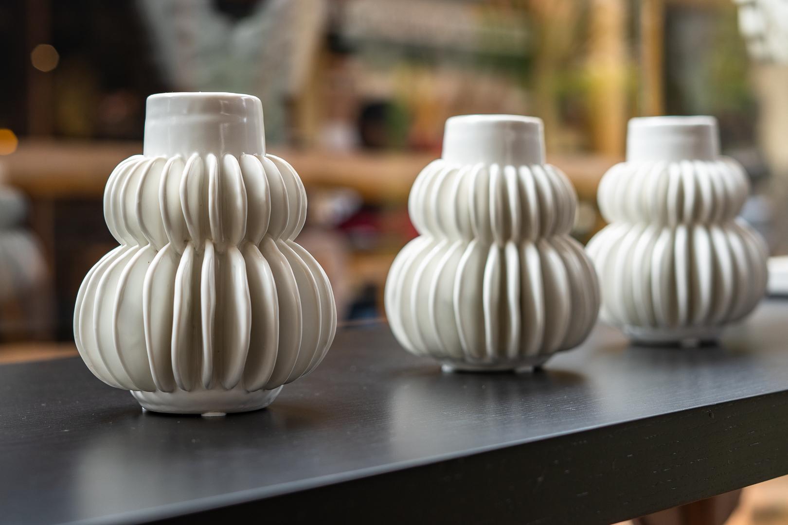 Vase, White stoneware