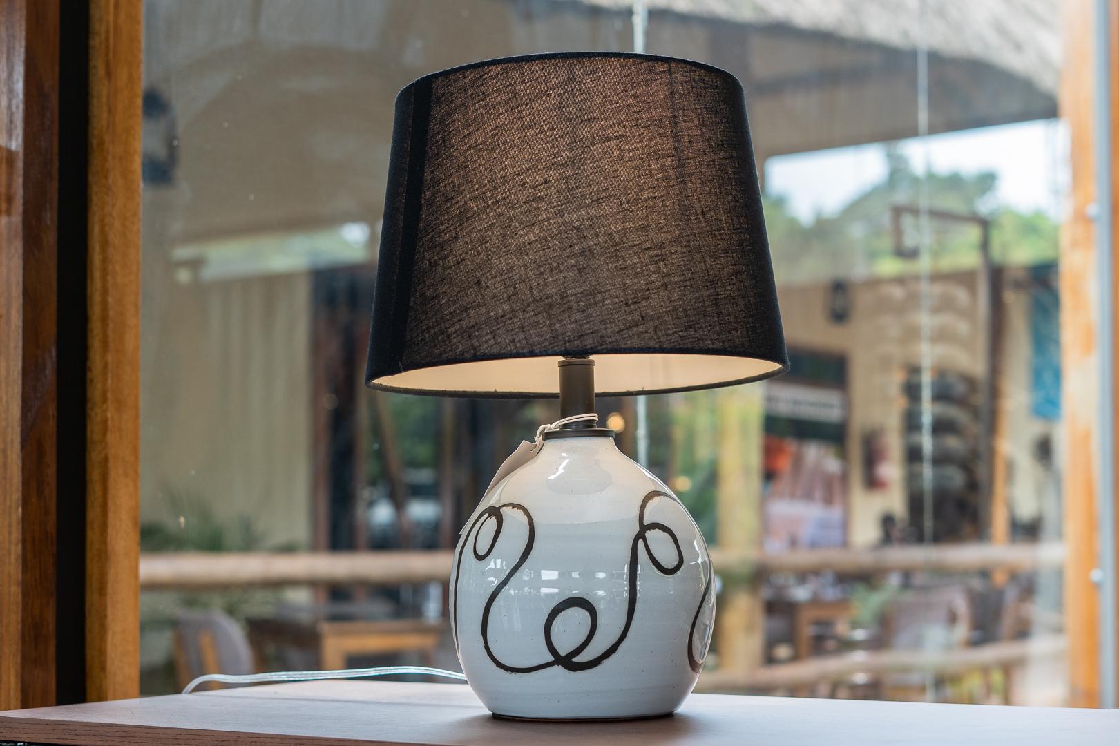 Table Lamp, White Terracotta