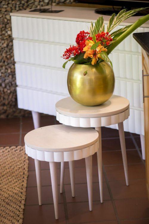 Skirt side table