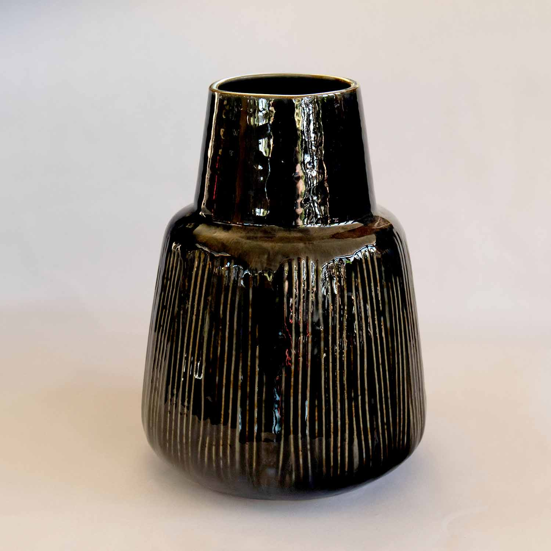 Vase, Blue, Stoneware