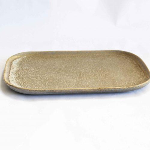 Addison plate multi-color stoneware