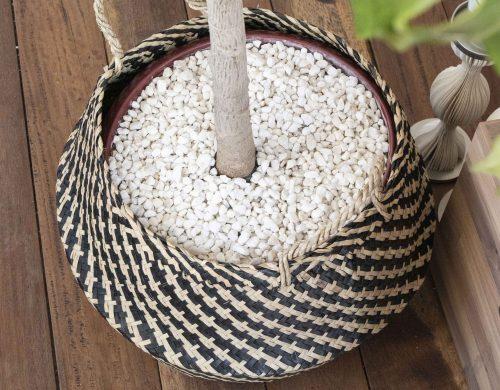 Basket multi-color seagrass