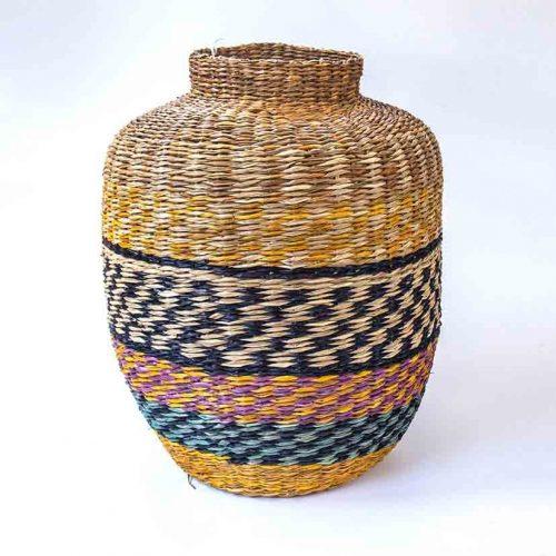 Basket multi color seagrass