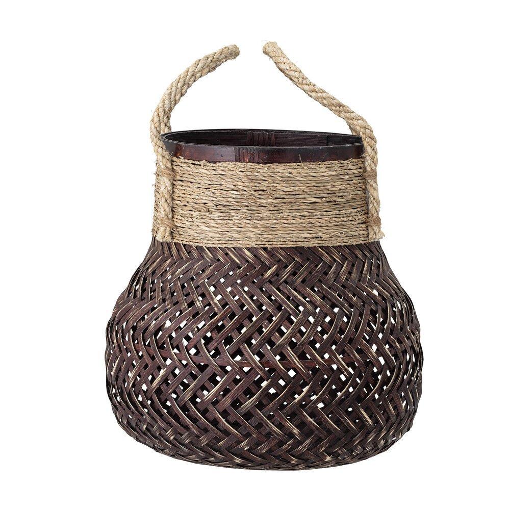 Basket, Brown, Bamboo