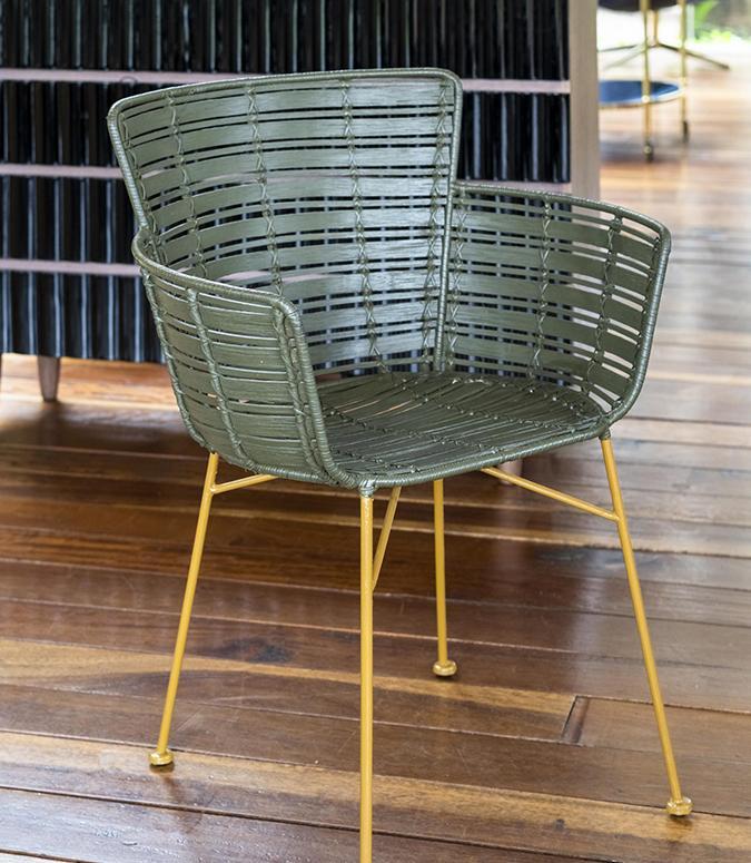 Coast Lounge Chair, Green, Rattan