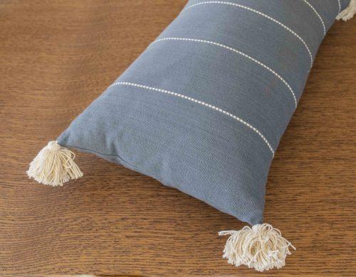 Cushion blue cotton rectangle