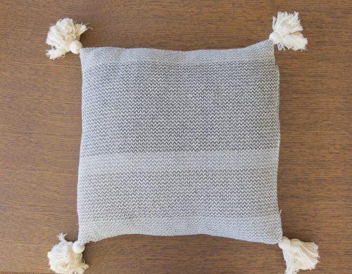 Cushion grey cotton pattern
