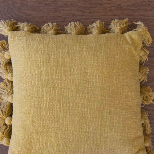 Cushion yellow cotton