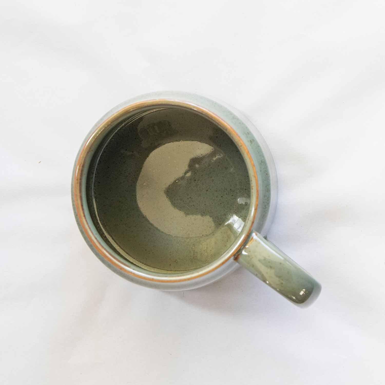 Pixie mug green stoneware