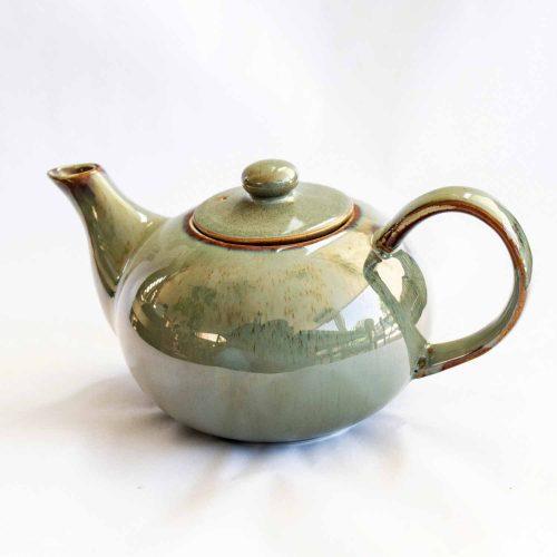 Pixie teapot green stoneware