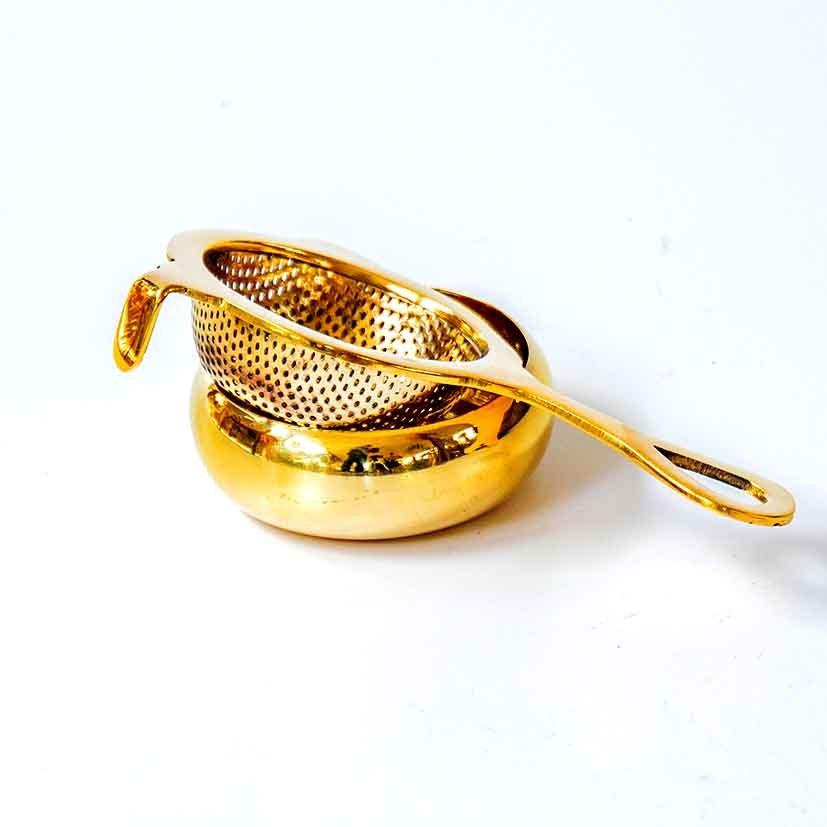 Strainer gold brass