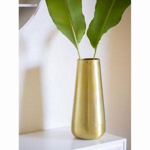 vase medium brass gold