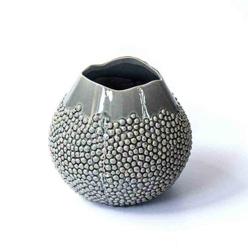 Vase grey stoneware