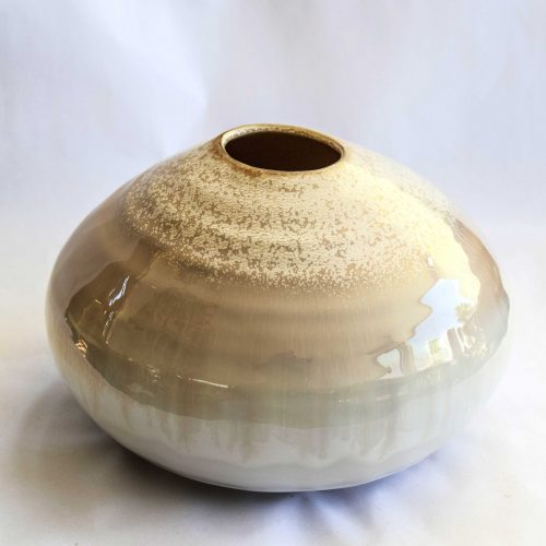 vase nature stoneware round