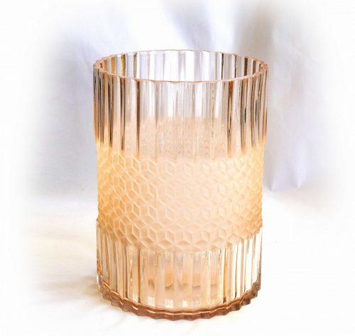 vase rose glass straight