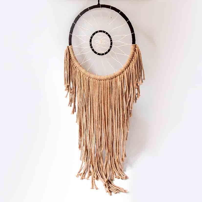 Wall hanger brown cotton